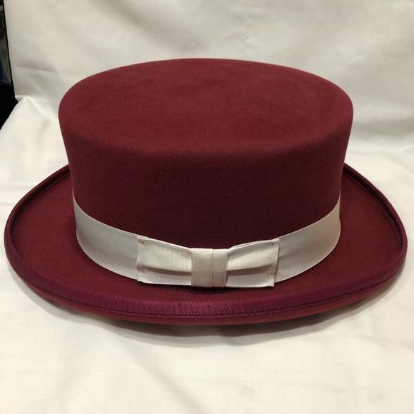 W. Albaum Hat Co. Other - Vintage Derby Burgundy Hat 7.5